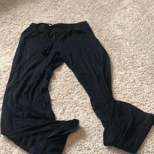 Black comfy lounge pants